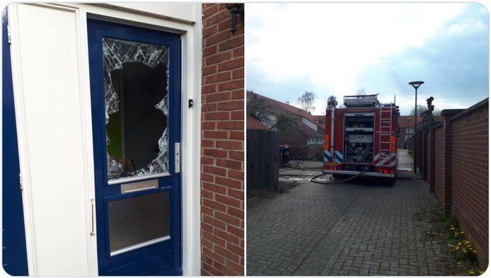 De brandweer kwam ook ter plaatste aan de Alma in Winterswijk, maar toen had de politie de voordeur al geforceerd.