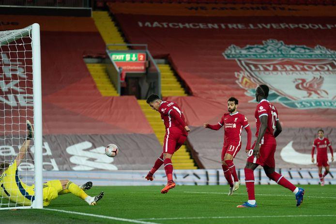 Roberto Firmino met de gelijkmaker voor Liverpool.