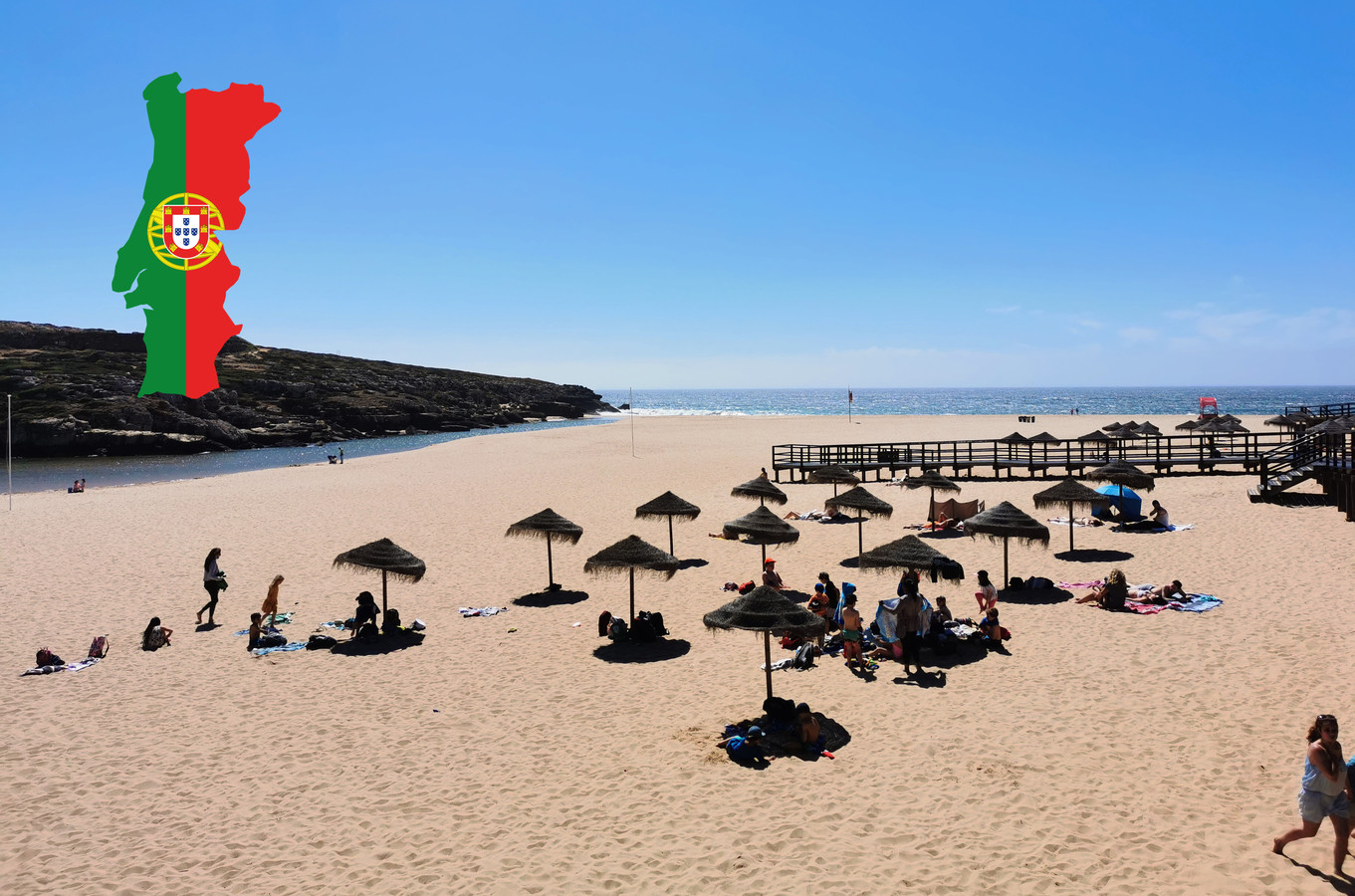Op de stranden moet drie meter afstand zitten tussen de parasols.