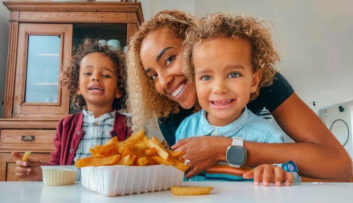 Lieve Vandenweghe met haar twee zoontjes, Finn (5) en Sun (3)