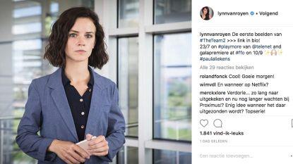 Actrice Lynn Van Royen zet eerste beelden van The Team2 op Instagram