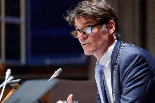 Breda - 7-6-2018 - Foto: Marcel Otterspeer / Pix4Profs - Avond installatie wethouders gemeente Breda. Burgemeester Paul Depla.