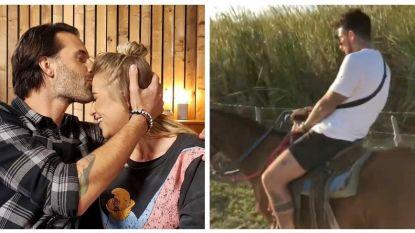 SHOWBITS. Sean Dhondt en zijn vrouw gaan aan de slag voor 'Blind Getrouwd' en Fabrizio sukkelt tijdens het paardrijden