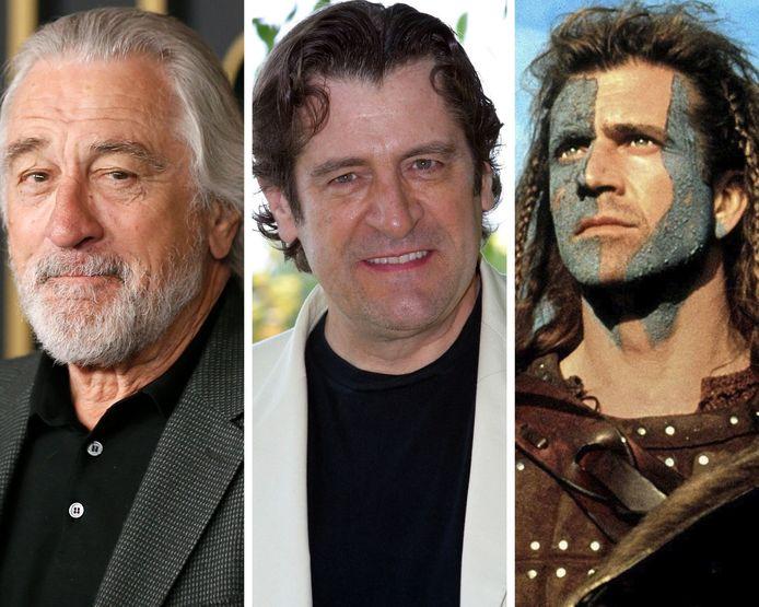 Robert De Nireo, Jacques Frantz et Mel Gibson.