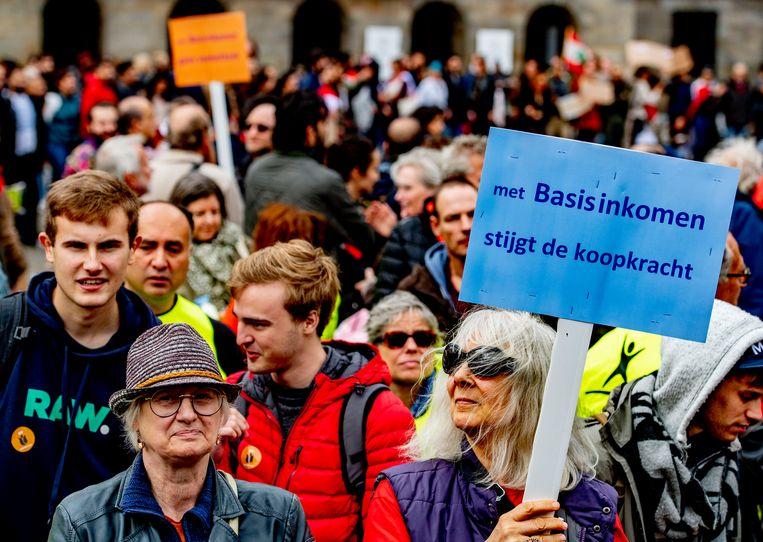 Demonstratie de Dam Beeld ANP