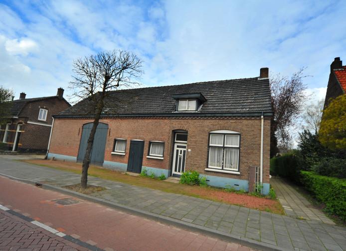 Het pand aan de Bergstraat 58 in Dommelen.