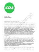 Brandbrief CDA aan partijtop