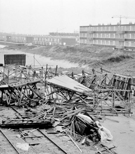Storm Ciara was erg, maar in 1965 waaiden hele muren om in Overvecht