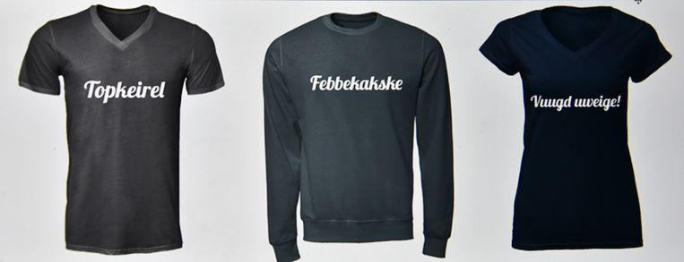 Geerte Verbraeken heeft een webshop opgestart. Ze heeft voorlopig drie T-shirts in haar assortiment.