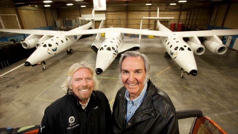 Richard Branson & SpaceshipTwo designer Burt Rutan