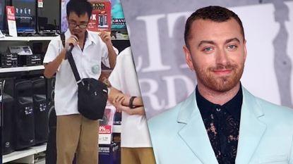 Blinde Filipijnse student zingt karaoke in winkelcentrum en wordt opgespoord door Sam Smith