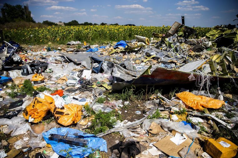 De MH17-rampplek een maand geleden. Beeld EPA