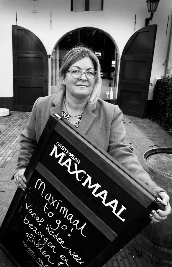 Irene Christoffel voor haar restaurant Gastrobar Maximaal.