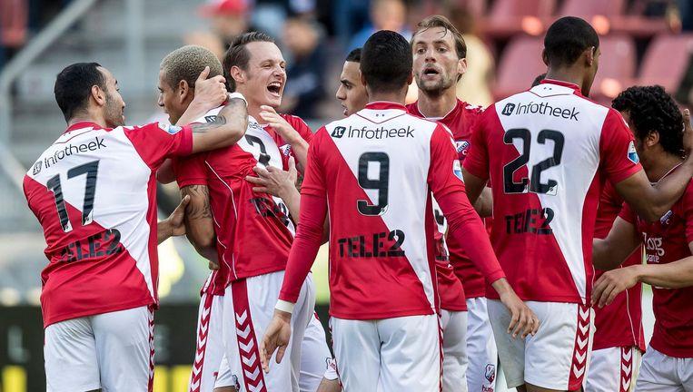 FC Utrecht in extase. Beeld anp