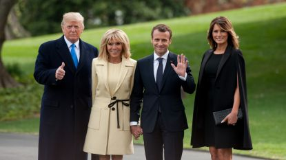 Trump ontvangt Macron in het Witte Huis