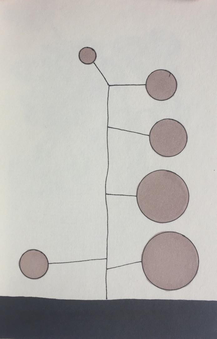 illustratie van Aschwin van den Abeele bij zijn Vers op Zondag: SCHULDIG