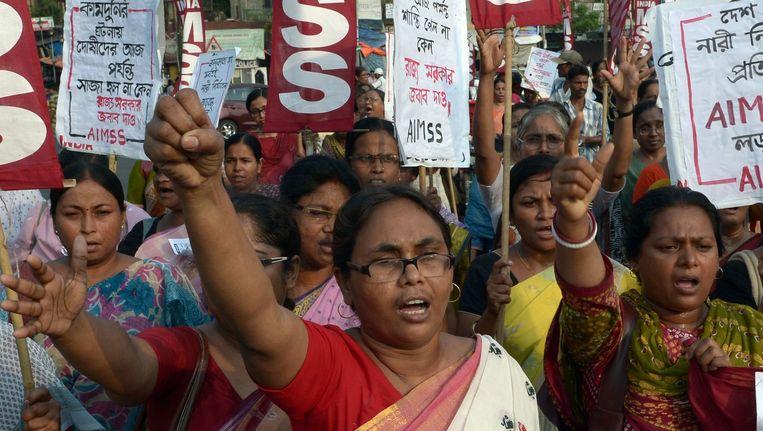 De bevolking pikt al die verkrachtingen en moorden niet langer. Beeld AFP