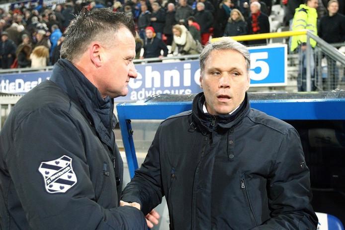 Albert van der Sleen met Marco van Basten bij sc Heerenveen.