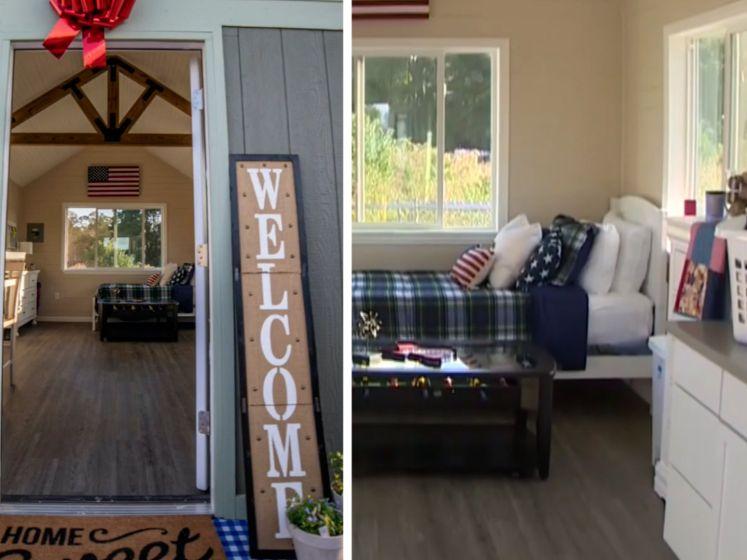 Studenten bouwen huisjes voor dakloze veteranen