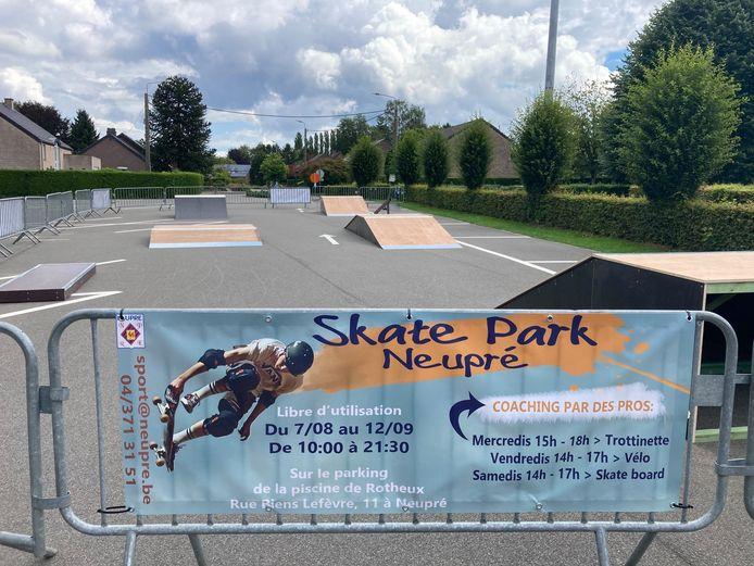 Un skate park installé à Rotheux (Neupré) jusqu'au 12 septembre 2021.