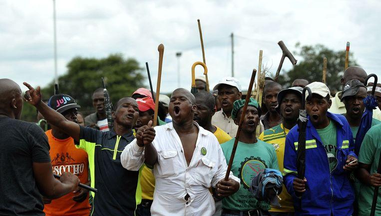 Stakende mijnwerkers in Marikana. (Archieffoto)