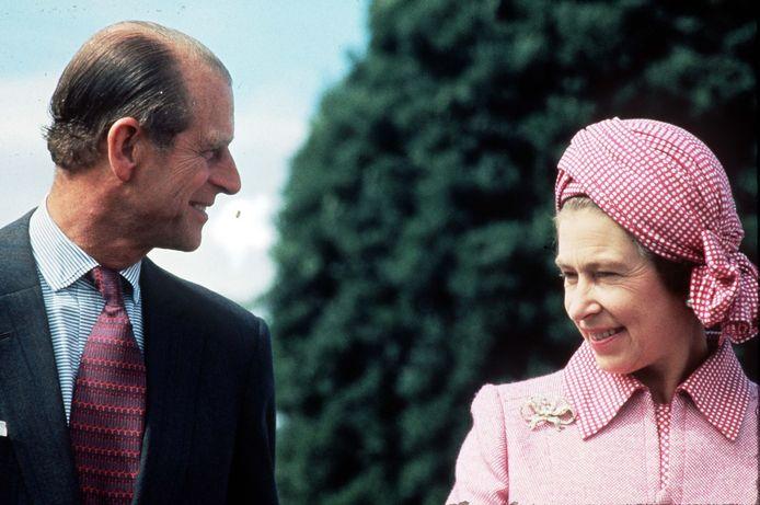 Queen Elizabeth en haar echtgenoot, prins Philip.