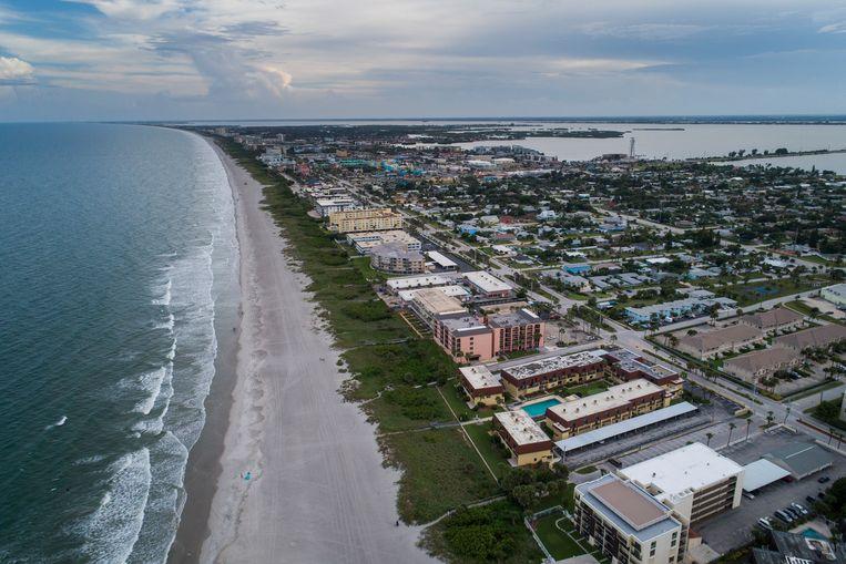 Cocoa Beach in Florida is zo goed als verlaten.