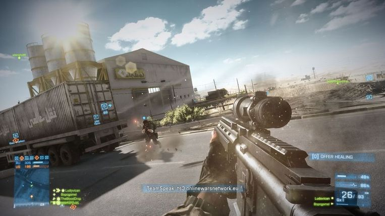 De multiplayer van 'Battlefield 4'. Stilstaan is doodgaan. Beeld Electronic Arts