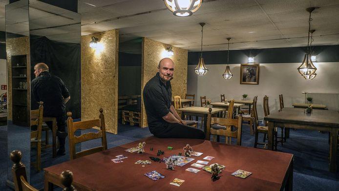 Jef Stuyck, in de magische spelletjeszaal van Crafty Potions