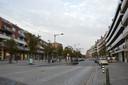 De Centrumlaan met links het Niniaplein.