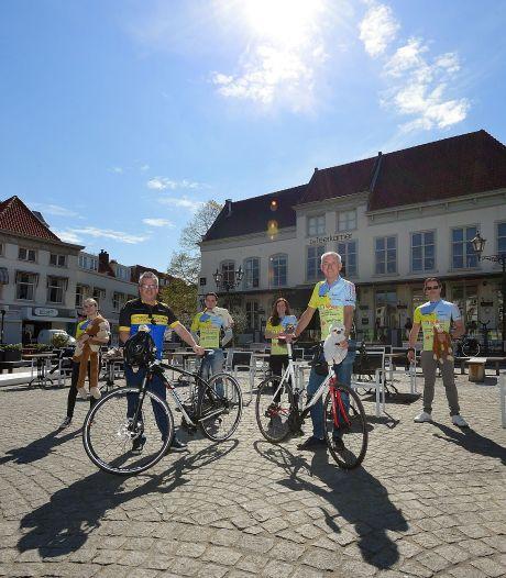35 fietsers rijden sponsortocht om geld in te zamelen voor onderzoek naar taaislijmziekte