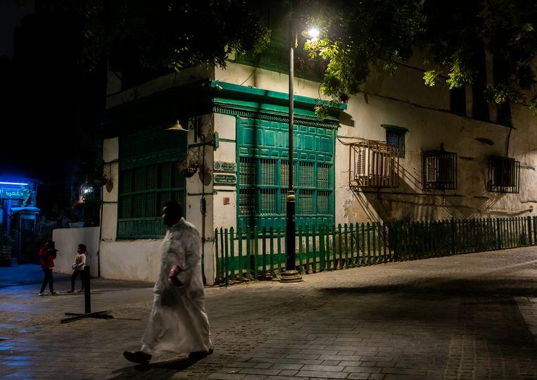 Een straat in Mekka. De term wahhabi-salafisme verwijst naar de geloofsleer zoals die in Saoedi-Arabië wordt beleden. Beeld Corbis via Getty Images