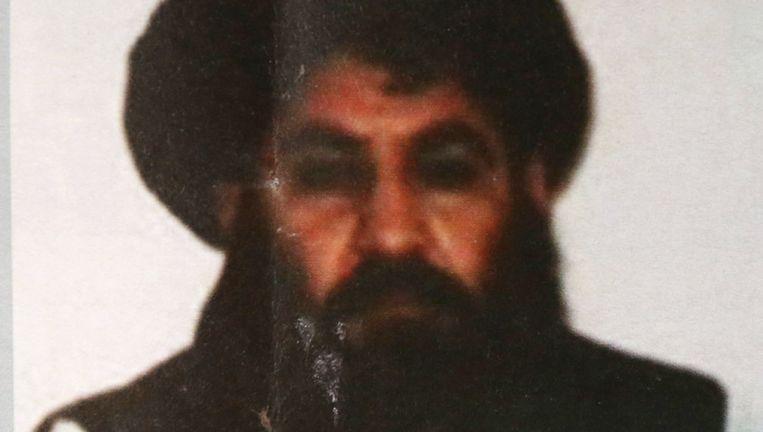 Talibanleider Mullah Mansour. Beeld AP