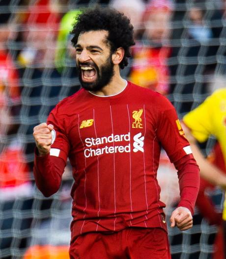 Bevlieging Salah voorkomt puntenverlies van pover Liverpool