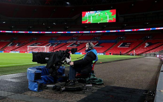 Een leeg Wembley.