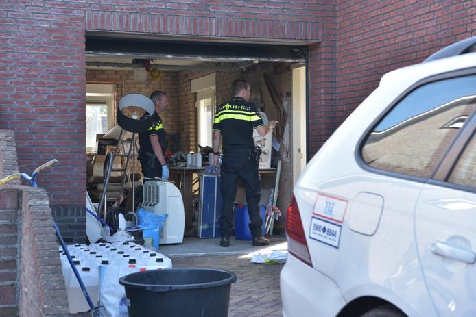 Drugslab opgerold in woning in Hoeven.