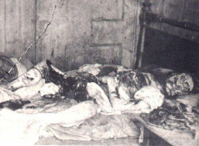 Zo werd het lichaam van Mary Kelly gevonden.