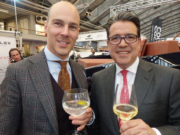 Chris van Luxemburg (l) (Pakkend) en André Smits (Deutsche Bank). Beeld Schuim