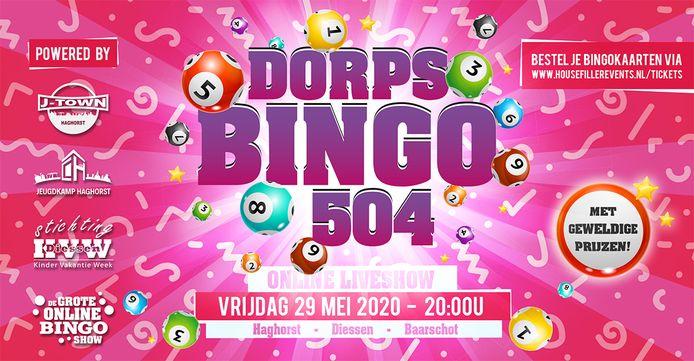 Aankondiging van de Dorpsbingo 504.