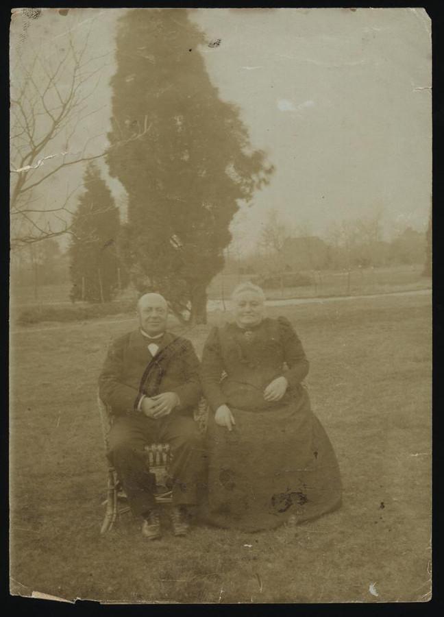 Nathan Menko en echtgenote, 1905.