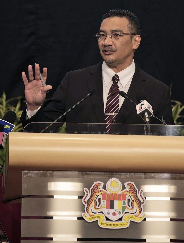 De Maleisische minister van Transport, Hishammoeddin Tun Hoessein. Beeld EPA