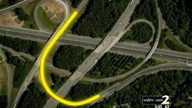 Optisch bedrog doet truckers constant crashen op helse snelweg