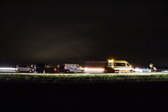 Vier auto's waren betrokken bij de aanrijding op de A28 bij Putten.