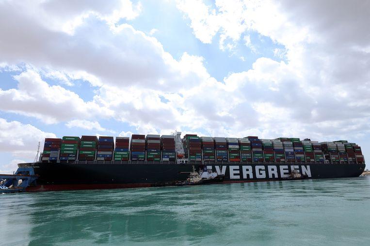 Het schip is maar liefst 400 meter lang. Beeld EPA