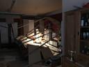 De ravage in het huis van Dennis Verhulst uit Putte nadat vorig jaar de plafondplaten naar beneden kwamen.