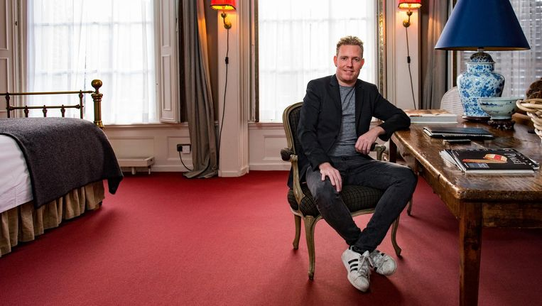 Organisator Vincent van Dijk: 'Amsterdammers zijn de ambassadeurs van hun eigen stad.' Beeld Marijke Stroucken