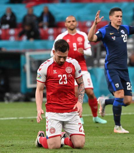 Le foot après l'effroi: la Finlande s'impose contre le Danemark