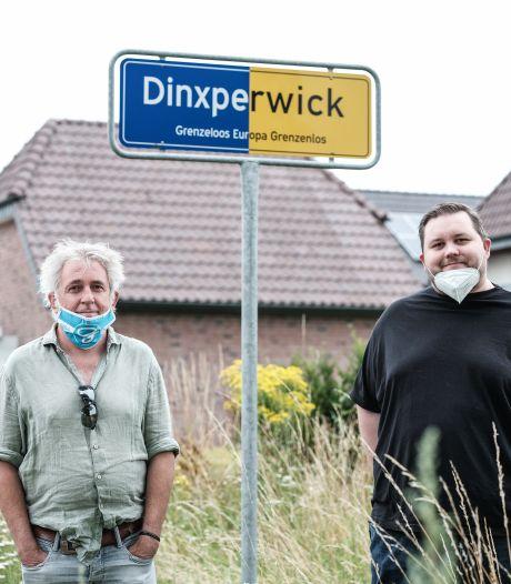In Achterhoek duimen omhoog met mondkapje logo De Graafschap, maar bij de super over de grens klinkt: 'Nicht erlaubt!'