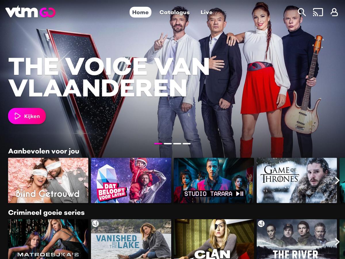 De VTM GO-app van DPG Media, het bedrijf dat ontstaan is door de fusie van De Persgroep Publishing en Medialaan.