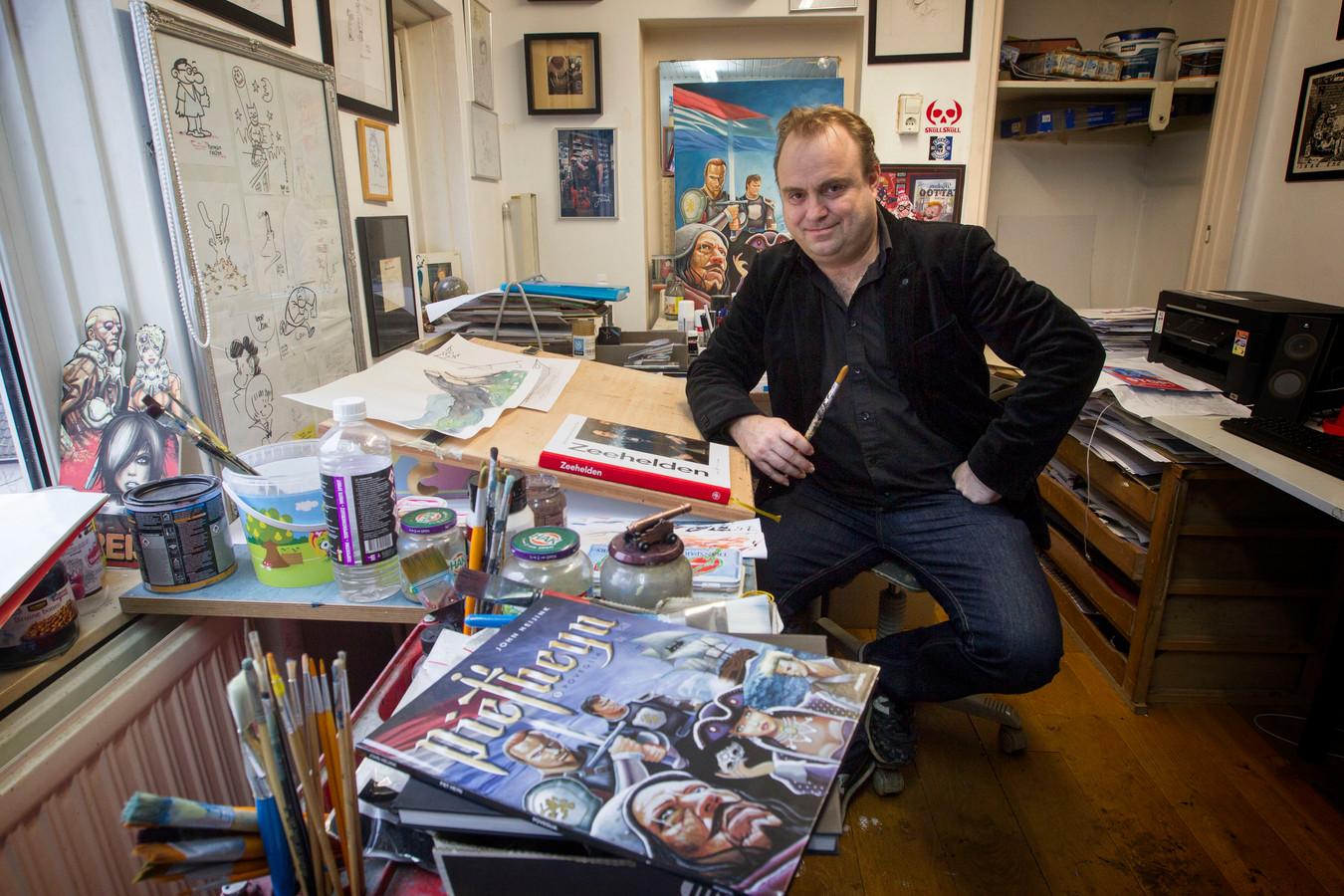 Eindhoven - Strip over Piet Heyn door kunstenaar John Heijink.